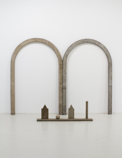 <h3>NED SMYTH</h3> 						<h4><em>Arches Drawing with Short Street</em></h4> 						1974 & 1976</br> 						Cast concrete</br> 						72 x 96 1.5 inches</br>                         17 x 48 x 4 inches (Floor Piece)